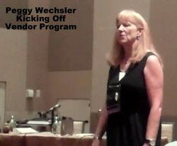 Peggy Wechsler Kicking off the Vendor Program with the Business Meeting