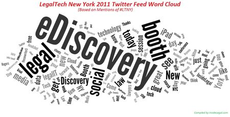 InsideLegal's LTNY 11 Tweets Word Cloud