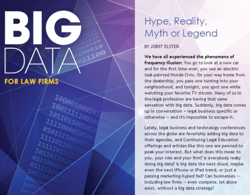 Big Data for Law Firms