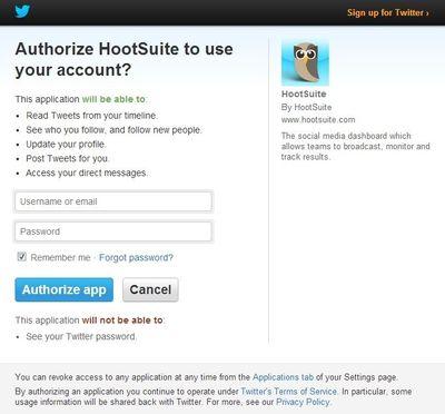 Setup HootSuite2