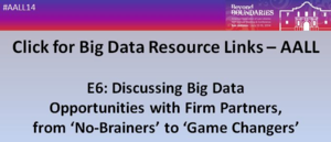 AALL Big Data Resource Links