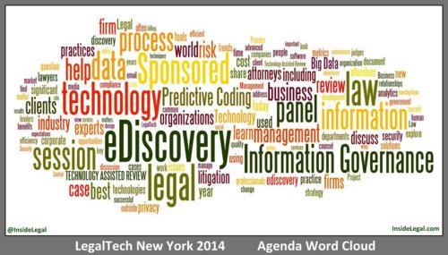 LegalTech NY 2014 Agenda Word Cloud - InsideLegal.com