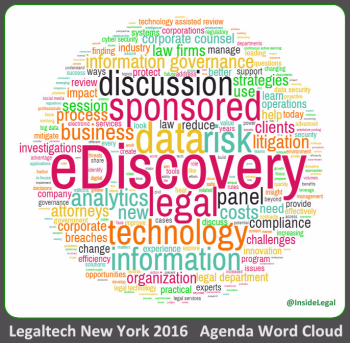 Legaltech NY 2016 Agenda Word Cloud-InsideLegal