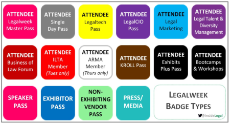 Legalweek Badges