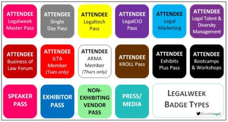 Legalweek Badges