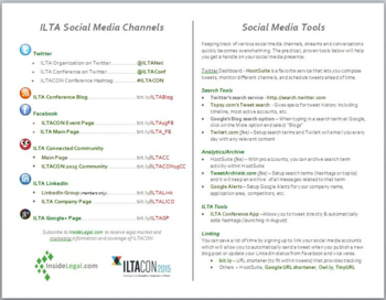 ILTA SM Cheat Sheet