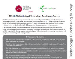 2016 ILTA InsideLegal Survey Cover