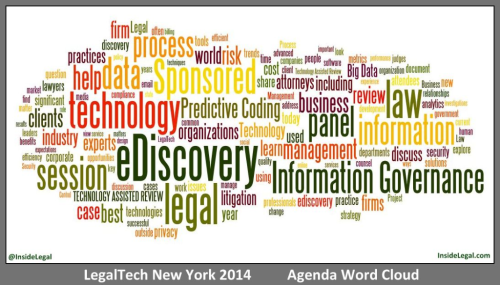 LegalTech NY 2014 Agenda Word Cloud - InsideLegal.com
